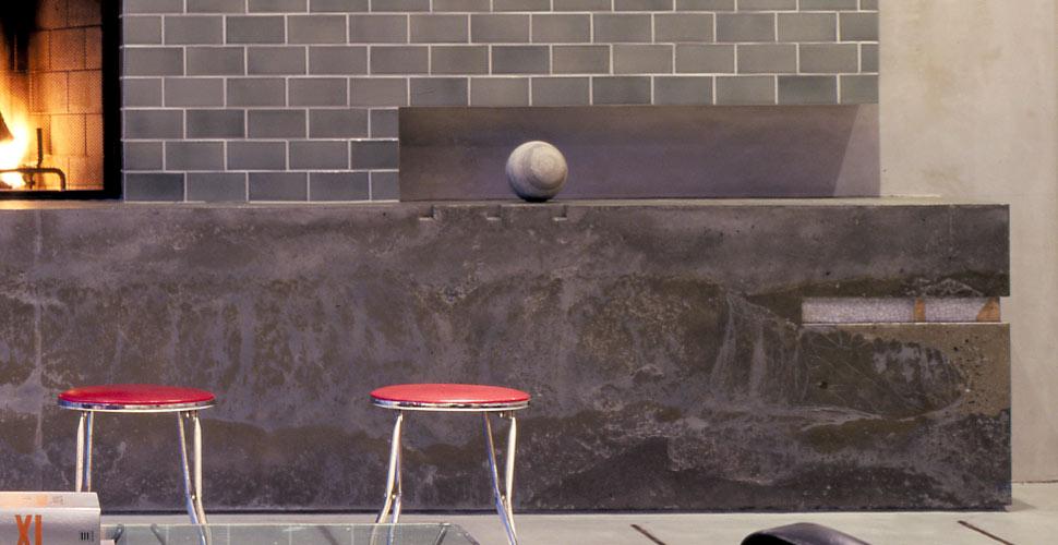 SF Concrete Fireplace by Fu-Tung Cheng   Concrete Exchange