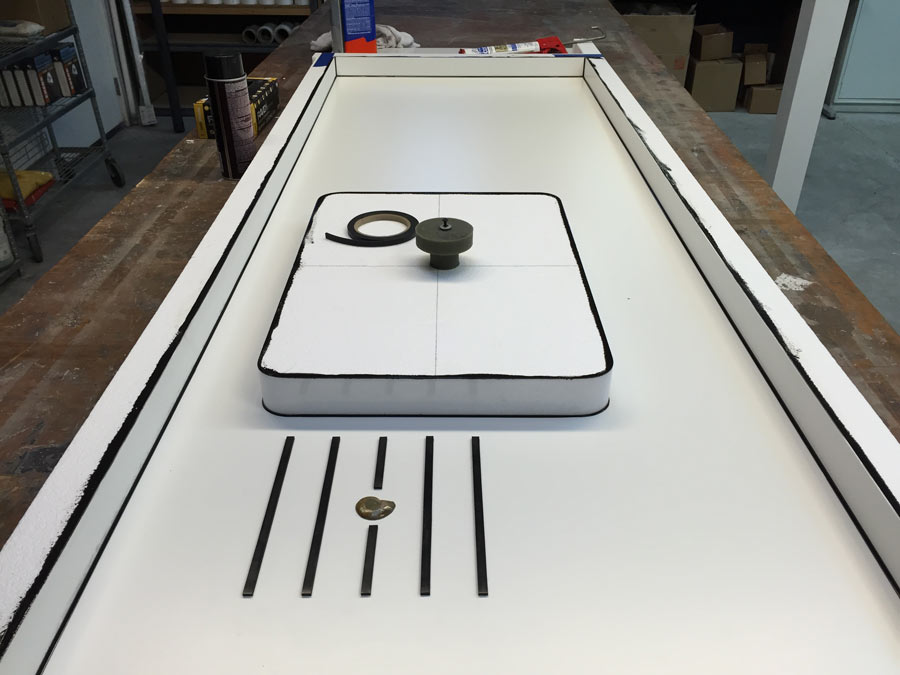 The Concrete Countertop Mold Is Ready To Have Concrete Added In | CHENG  Concrete Exchange