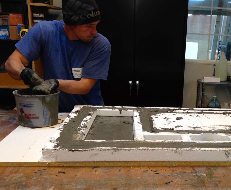 GFRC Concrete Countertop Casting | CHENG Concrete Exchange