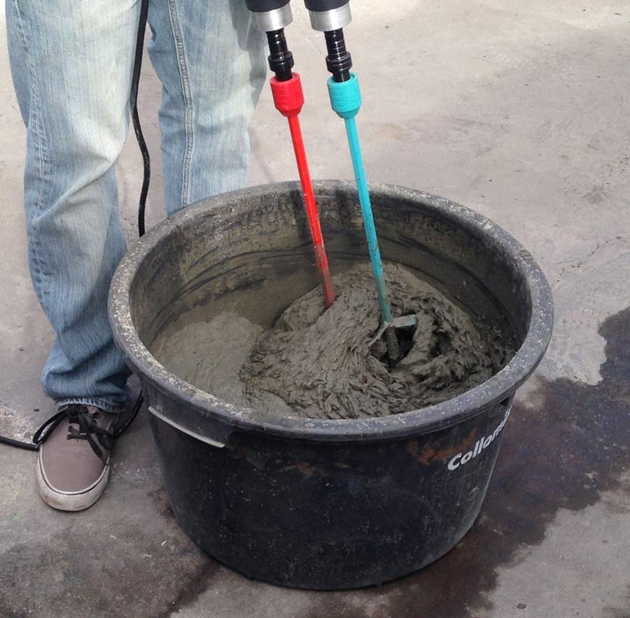 Fiber Cement Mix : Fiber reinforced concrete countertop casting demonstration