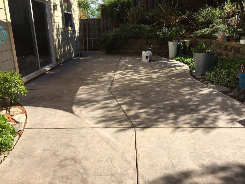 Weathered Outdoor Concrete Patio, Ready For Restoration