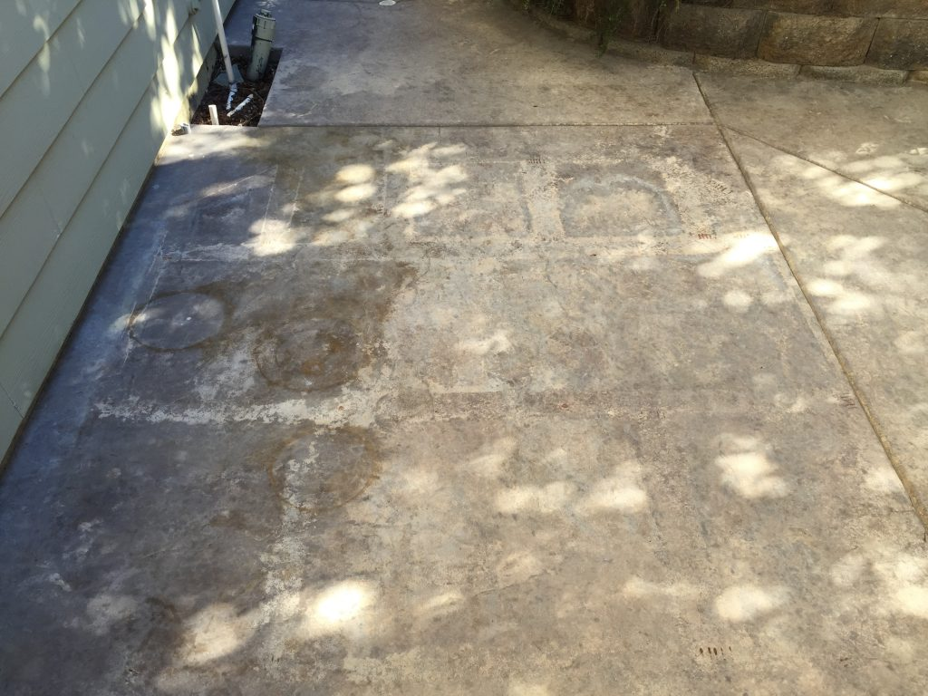 Weathered Outdoor Concrete Patio