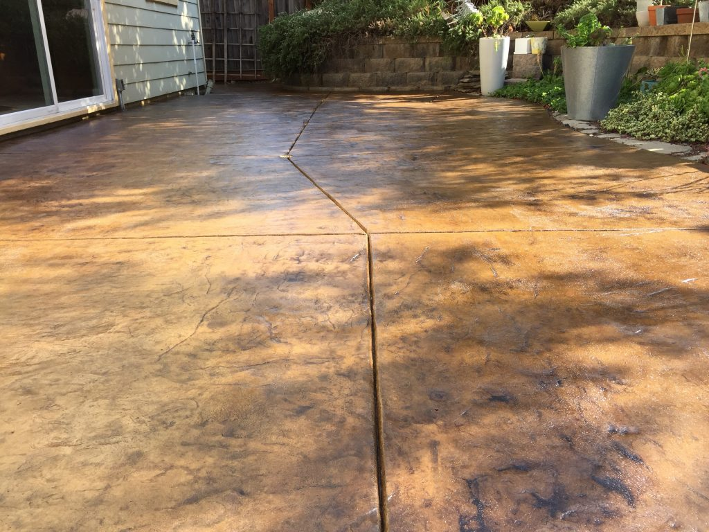 Amazing The Finished Product After Staining And Sealing Our Concrete Patio