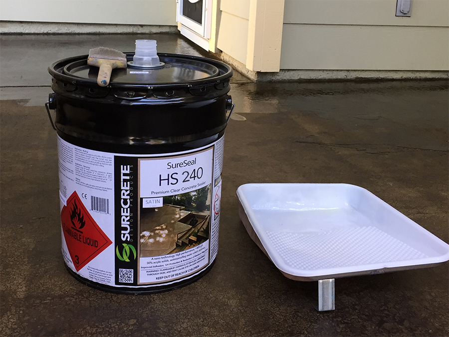 Surecrete HS240 that we used to seal our concrete patio