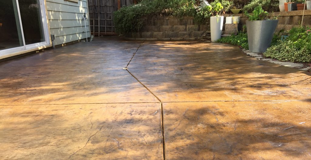 Concrete stain and sealer patio makeover concrete exchange - Exterior concrete floor coatings ...
