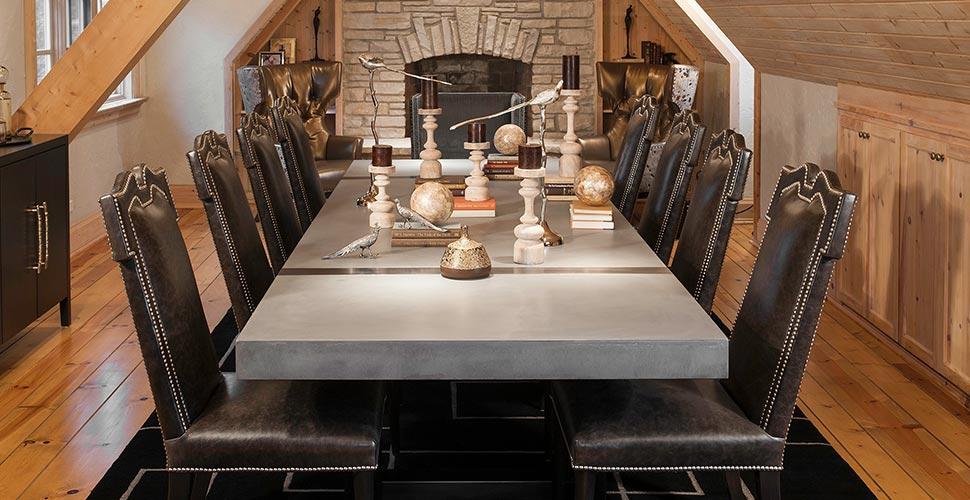 Concrete Dining Table by Kerr Concrete Design | CHENG Concrete Exchange